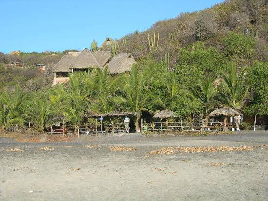 El copal: the hotel from the beach