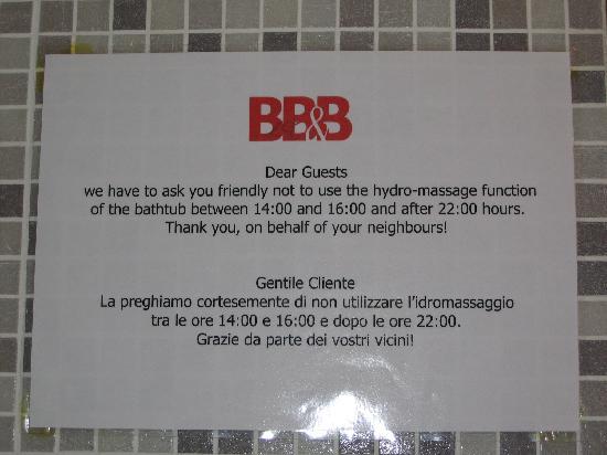 Best Pantheon B&B: Limitazioni utilizzo idromassaggio
