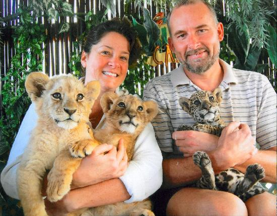 Hotel Mar de Cortez: we got to hold baby lions and a jaguar!  Look for the booth at the Marina