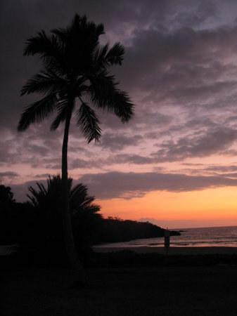 Hawaï: Hapuna Beach at Sunset, big Island
