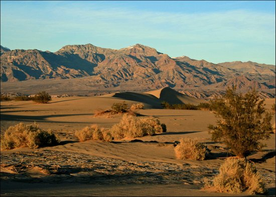 Death Valley Junction, Californië: Mesquite Flat Sand Dunes