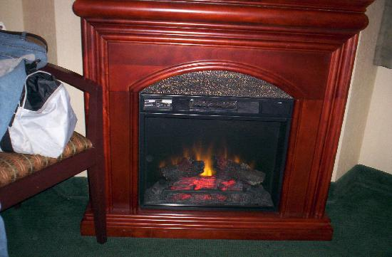 River Road Fireside Hotel: In room fireplace