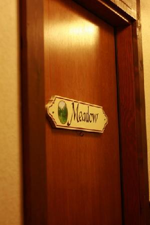 Haus Rohrbach: Meadow room...door