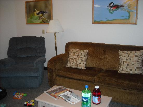 Ocean Suites : Living room area