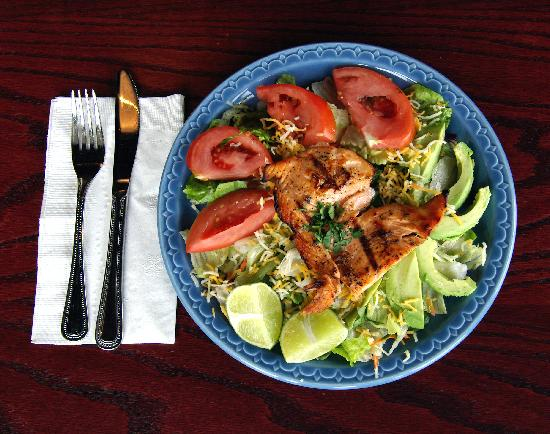 Bellas Fresh Mexican Grill : Yummy Salmon Salad