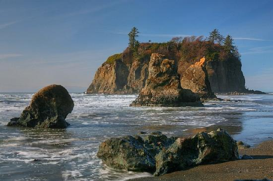 Sea Stacks At Ruby Beach