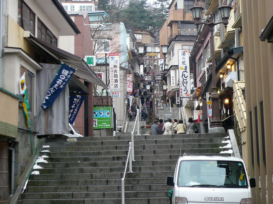 Ikaho Stone Step Street : Isidahgai (lower part) / 石段街(下の部分)