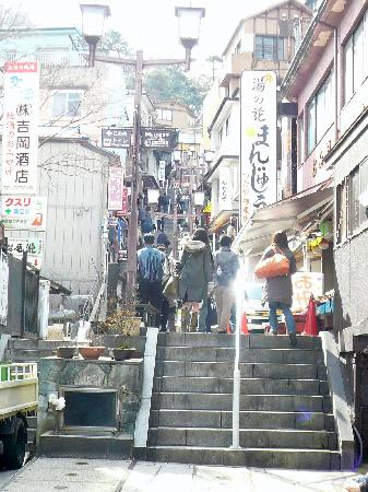 Ikaho Stone Step Street : Ishidan-gai (upper part) / 石段街(上の方)