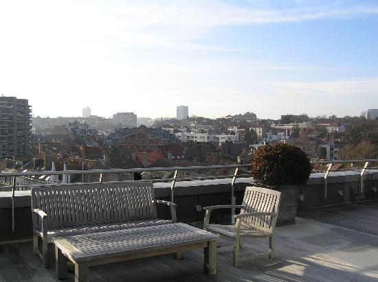 Sofitel Brussels Europe: Terrace on the last floor