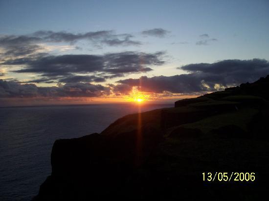 Sunset at Orongo (Ancient village)