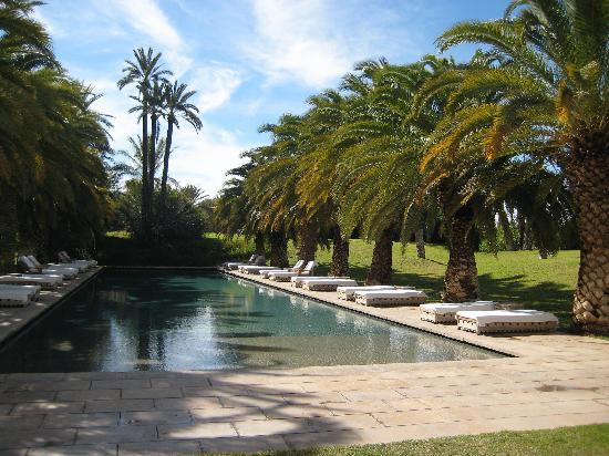 Ksar Char-Bagh: Pool area