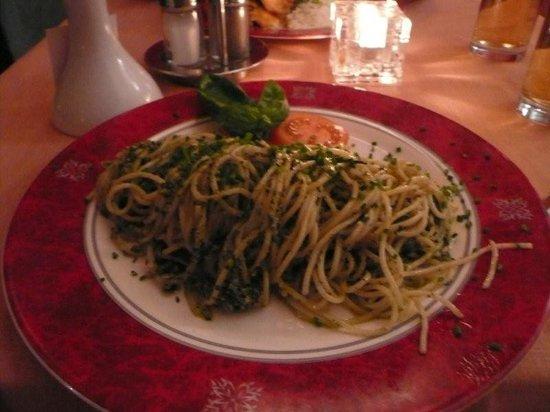 Superb spaghetti at Saran Essbar