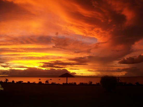 The most amazing sunset in paradise, Samoa