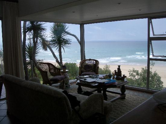 The Pink Lodge on the Beach: View from our suite Pink Lodge on the Beach Wilderness South Africa