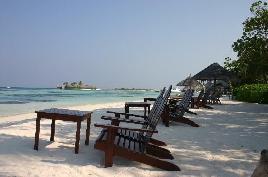 Four Seasons Resort Maldives at Kuda Huraa: beach and reef club bar