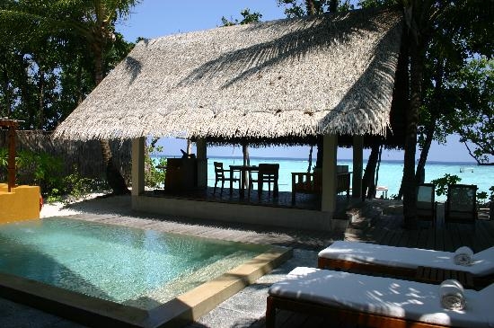 Four Seasons Resort Maldives at Landaa Giraavaru: Beach bungalow private outside area