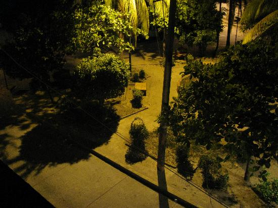 Hotel Solimar Inn Suites: Park at night