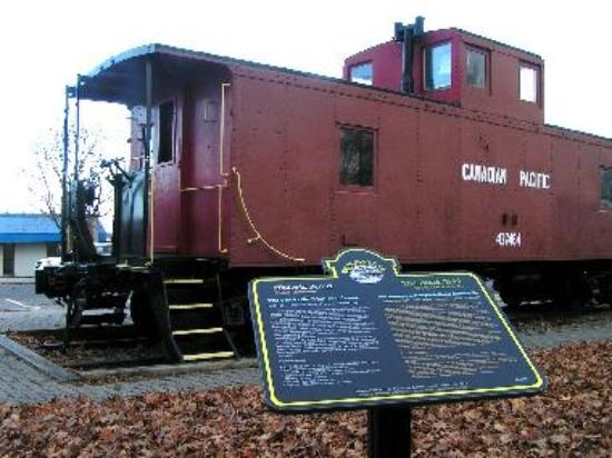 The Brockville Caboose, located on the waterfront near the Brockville Railway Tunnel.