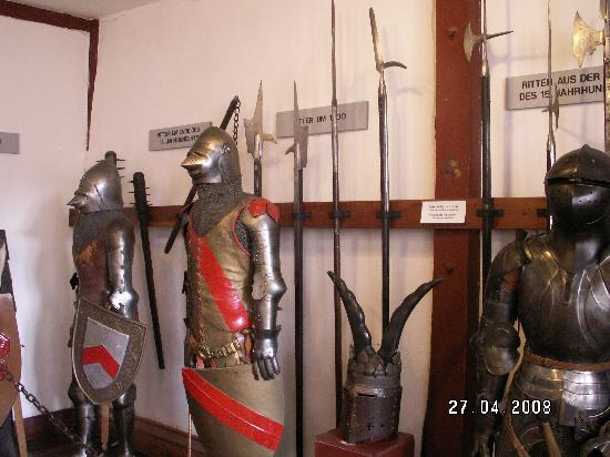 Marksburg Castle: Part of the armour collection
