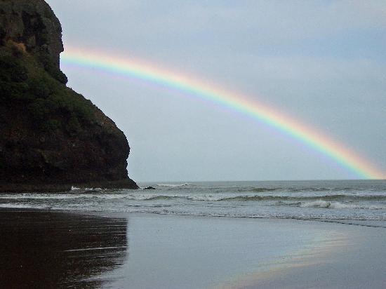 Piha Beach Rainbow