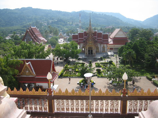 Phuket by, Thailand: 仏塔から見るWat Chalong