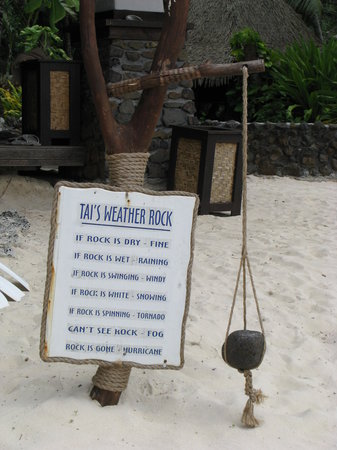Rarotonga, Cook Islands: Tai's weather rock
