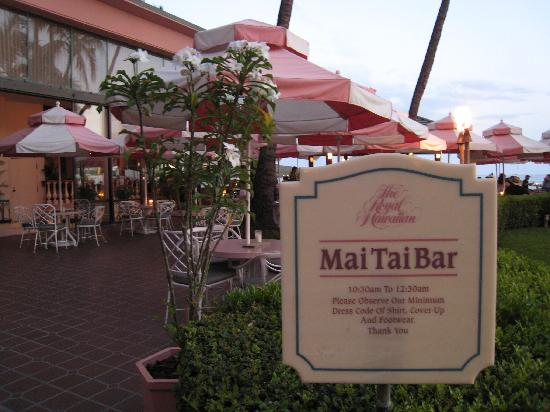The Royal Hawaiian, a Luxury Collection Resort: マイタイバー