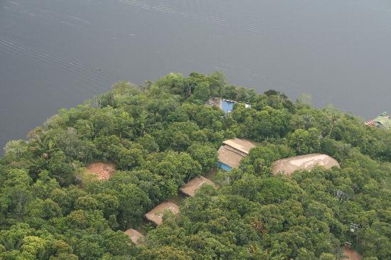 Novo Airão, AM: aerial view of Anavilhanas Lodge