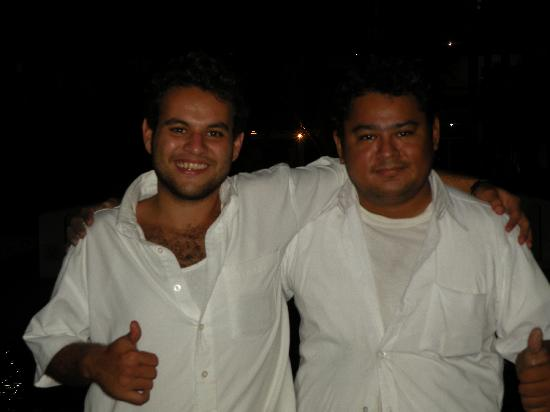 Rincon de Guayabitos: Miguel (artist) and Jaso (salesman)
