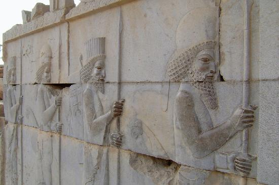 Persepolis, Iran: ペルセポリス遺跡のレリーフ