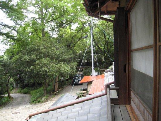 Salon Haraguchi Tenseian : 2階部屋からの眺め