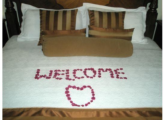Villa Beach Cottages : A Nice Welcome Touch