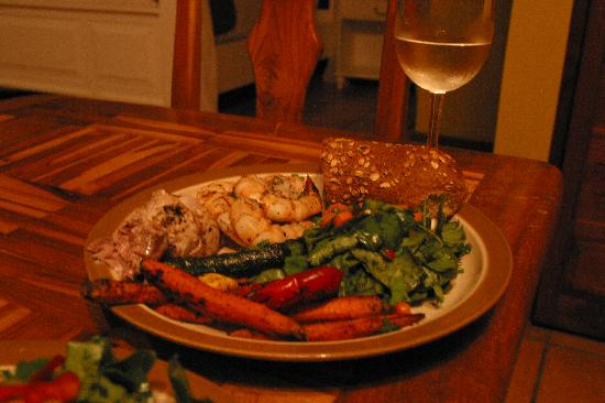 Villas Hermosas: our homemade Costa Rican meal - fresh fish!