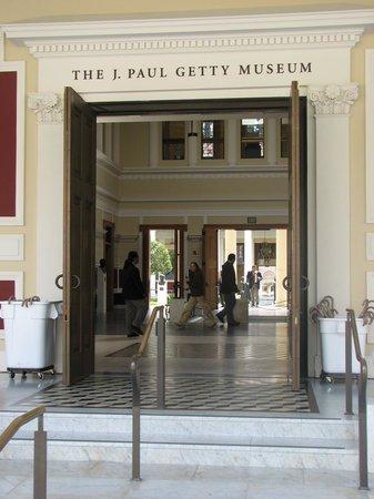 The Getty Villa: museum entrance