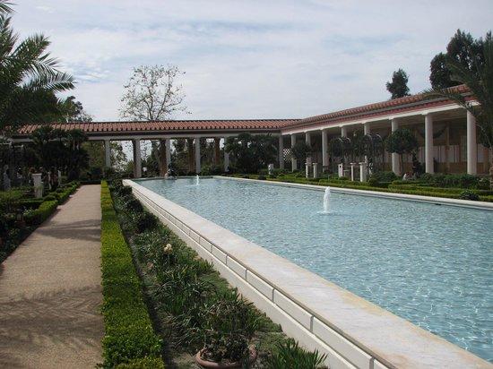 The Getty Villa: main pool in courtyard