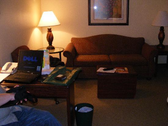 La Quinta Inn & Suites Milwaukee Bayshore Area: couch and desk area