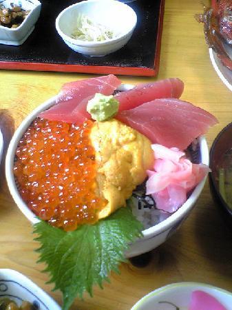Choshi Fishing Port: 3色丼