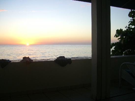 Sunset Paradise Villas: view from porch, villa one downstairs