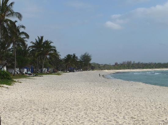 Jacaranda Indian Ocean Beach Resort: Plage de l'hotel à marée haute