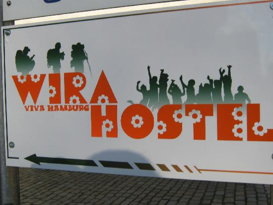 Wira Hostel: Sign board outside