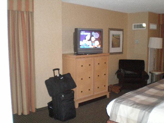 Reston, VA: Flat Screen...great reception and most cable channels including HBO