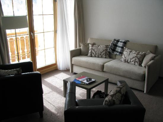 Hotel Allegra: Wohnbereich mit Sofa