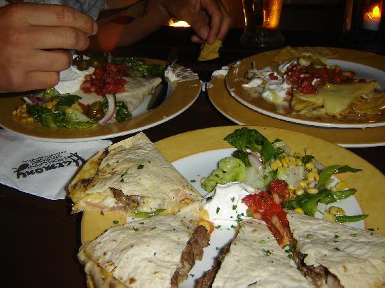Harmony Mexican Restaurant and Bar: quesadillas and burritos