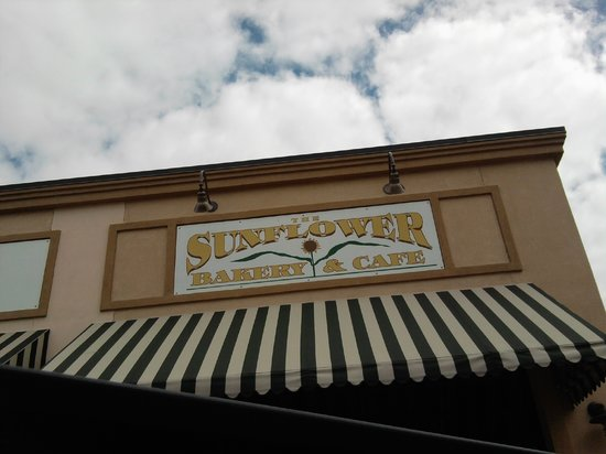 Sunflower Bakery and Cafe: Look for the Sunflower Baker & Cafe Sign