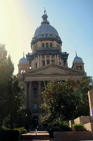 Illinois State Capitol: View with Dome