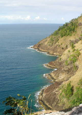 Saint Lucia: view from Pigeon Island