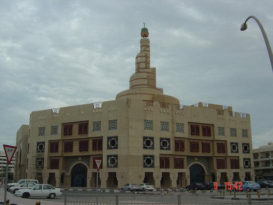 Doha, Catar: batiment vers le vieux souk
