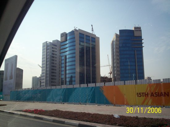 Doha, Qatar : batiment construit pour les asians games en 2006
