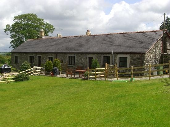 Coed Y Bryn, UK : Safe, enclosed garden of Stable Cottage