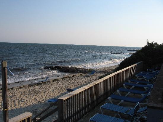 Dennis Port, MA: Sundeck and beach, early evening